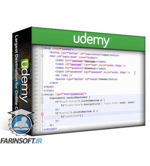 آموزش Udemy jQuery Crash Course: Learn the Essentials of jQuery Fast