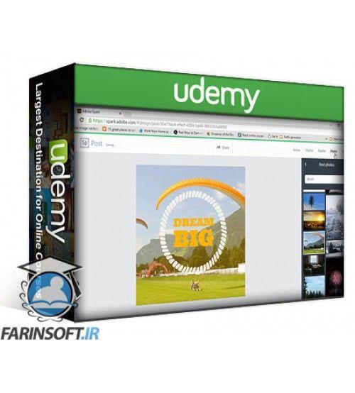 آموزش Udemy Adobe Spark Post: Create Stunning Social Graphics For Free