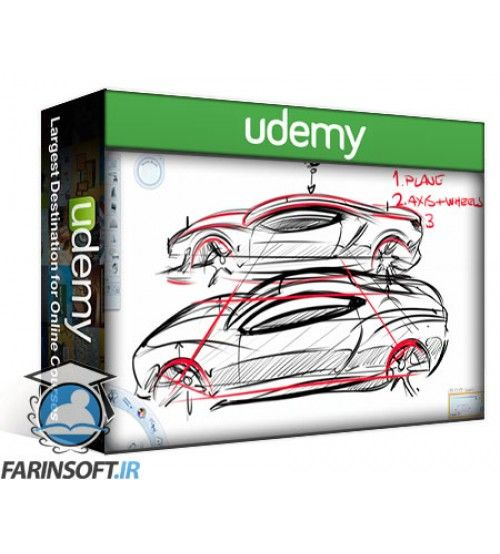 آموزش Udemy Car Design Sketching: Render a Car in Photoshop