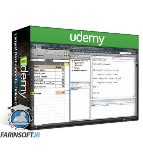 آموزش Udemy Excel VBA Course – Automate Repetitive or Complex Tasks