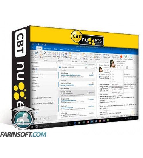 آموزش CBT Nuggets Microsoft Outlook 2016