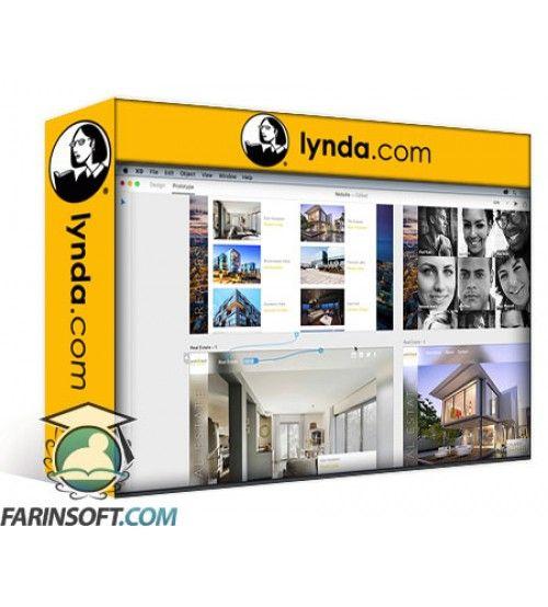 آموزش Lynda Design a Website with Adobe XD