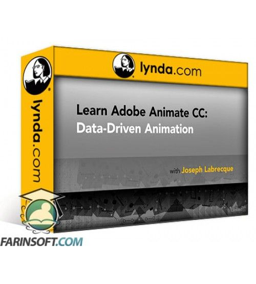 آموزش Lynda Learn Adobe Animate CC: Data-Driven Animation