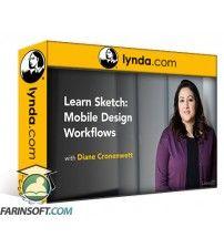 دانلود آموزش Lynda Learn Sketch: Mobile Design Workflows