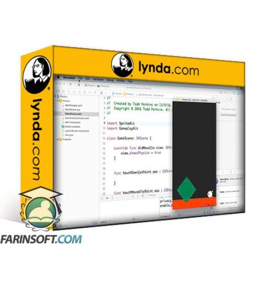 آموزش Lynda iOS Game Development with Swift 3 and SpriteKit