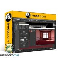 دانلود آموزش Lynda V-Ray: Control Color Bleed in 3ds Max