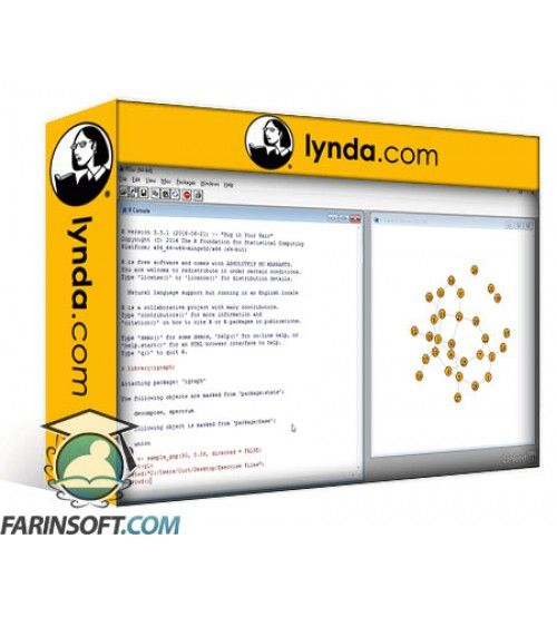 آموزش Lynda Social Network Analysis Using R