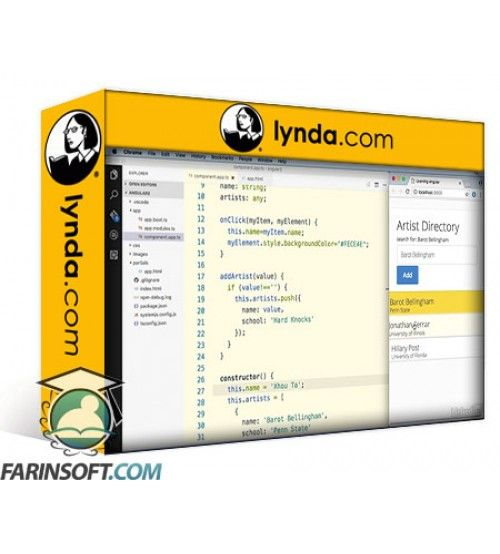 آموزش Lynda Learn AngularJS 2