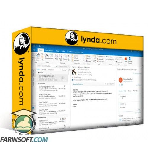 آموزش Lynda Learning Outlook Customer Manager