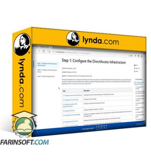 آموزش Lynda Windows 10: Configure and Support Core Services