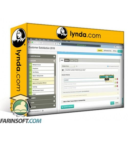 آموزش Lynda SurveyMonkey Essential Training