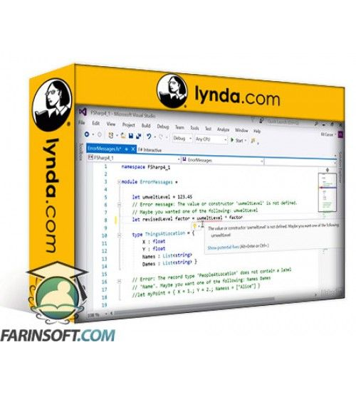 آموزش Lynda Whats New in Visual Studio 2017 for F# For Developers
