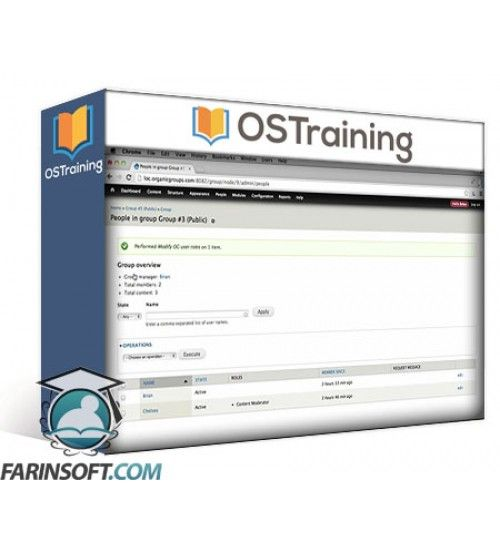 آموزش OS Training How to Use Organic Groups Version 2 in Drupal