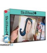 دانلود آموزش Skillshare Draw a simple face and let it come alive with watercolor and gesso. A mixed media lesson.