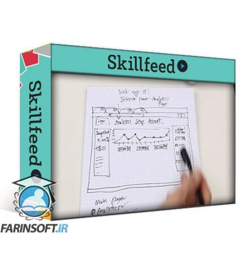 آموزش SkillFeed Intro to web & mobile app sketching: Visualize your idea with just pencil & paper