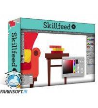 آموزش SkillFeed Cozy Interior: reate Flat Style Illustration In Adobe Illustrator