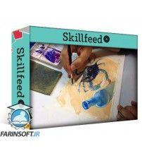 آموزش SkillFeed Connecting Things in Watercolor