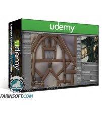 دانلود آموزش Udemy The Cliff Tower Fantasy – Blender 3D