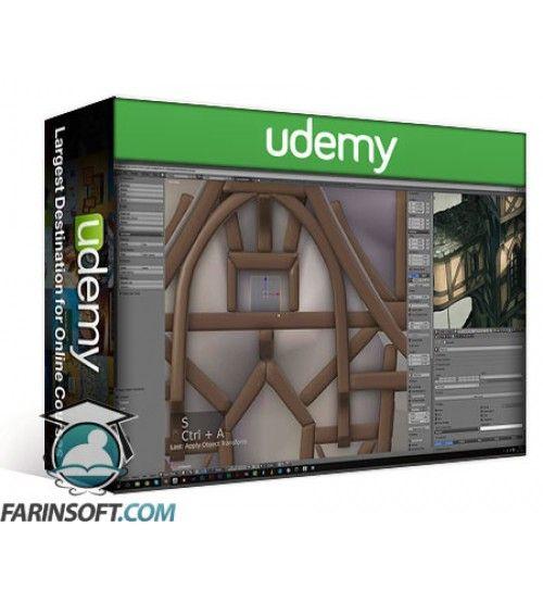 آموزش Udemy The Cliff Tower Fantasy - Blender 3D