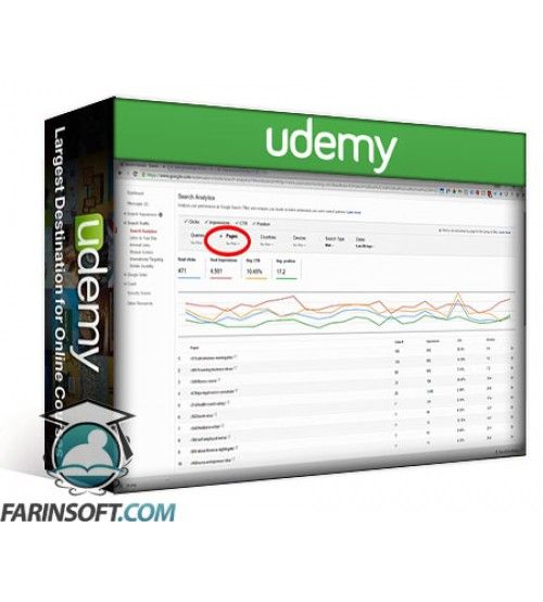 آموزش Udemy Onsite SEO Using Google Search Console-Webmaster Tools