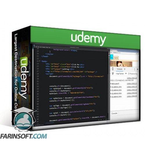 آموزش Udemy JavaScript manipulation of the DOM Document Object Model