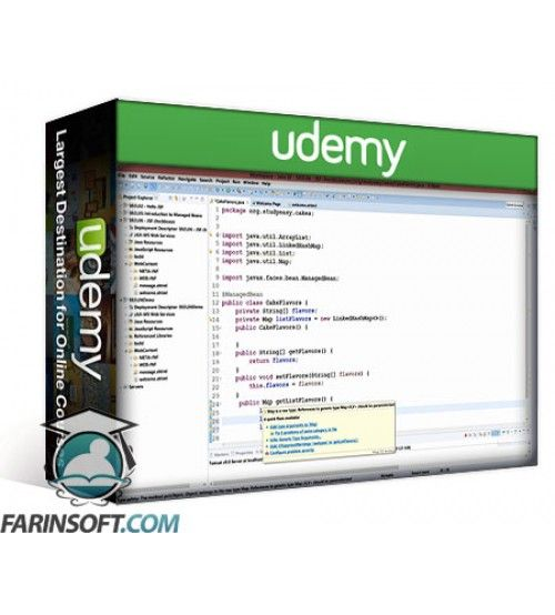 آموزش Udemy JSF 2.2: Java Server Faces (Basics to Database Connectivity)