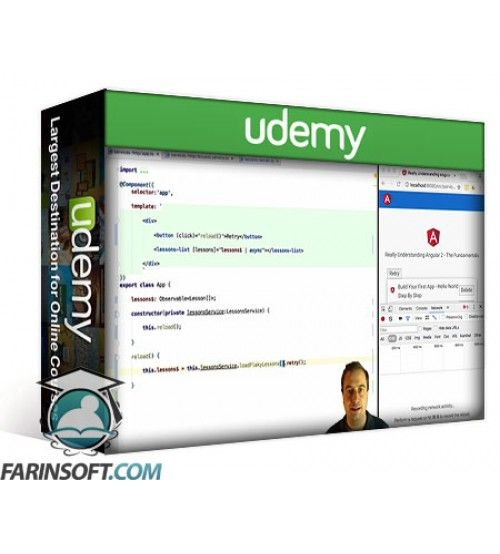آموزش Udemy Angular 2 RxJs Jumpstart - HTTP and Services Made Simple