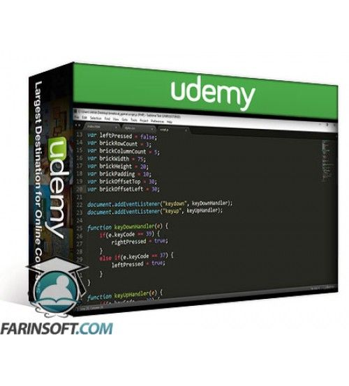 آموزش Udemy JavaScript Game Development: Create Your Own Breakout Game