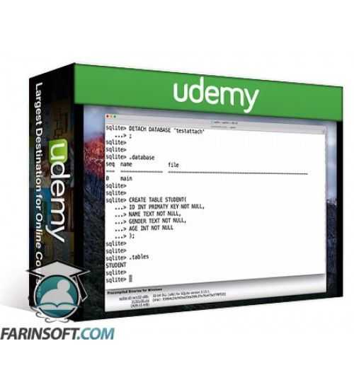 آموزش Udemy SQLite Tutorial for beginners
