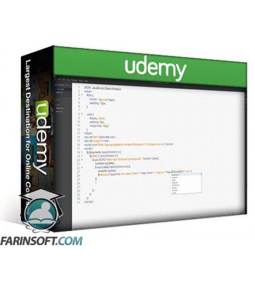 آموزش Udemy Learn JSON with JavaScript Objects and APIs in 1 hour