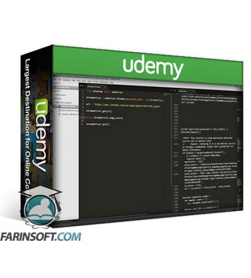 آموزش Udemy Intro selenium by create a linkedin bot with python
