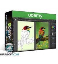 آموزش Udemy Triangulated Bird: Origami Styled Bird in Adobe Illustrator