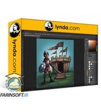 دانلود آموزش Lynda Photoshop: Texturing and Shading Techniques