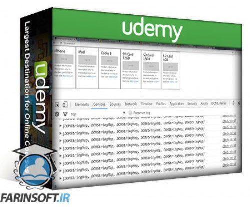 آموزش Udemy Shopping Cart Website from Scratch Ecommerce