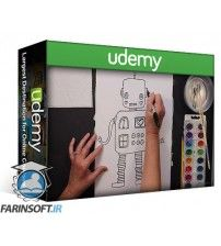 آموزش Udemy Kids Art Program: Mixed-Media Painting & Drawing Projects
