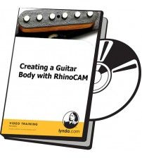 آموزش Lynda Creating a Guitar Body with RhinoCAM