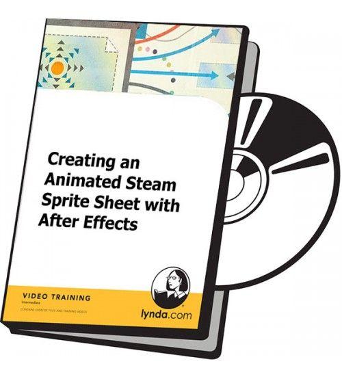 آموزش Lynda Creating an Animated Steam Sprite Sheet with After Effects