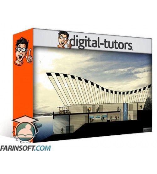 آموزش Digital Tutors Drawing a Building Cross Section in Photoshop and AutoCAD