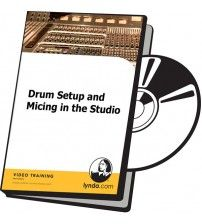 دانلود آموزش Lynda Drum Setup and Micing in the Studio