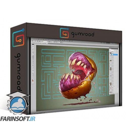 آموزش Gumroad Gumroad - Character Illustration Richard Lyons Pacman Vs Ratfink
