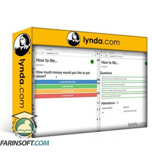 آموزش Lynda Building a Polling App with Socket IO and React.js