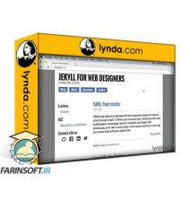 دانلود آموزش Lynda Jekyll for Web Designers