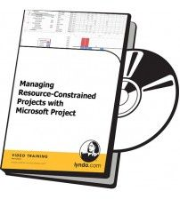 آموزش Lynda Managing Resource-Constrained Projects with Microsoft Project