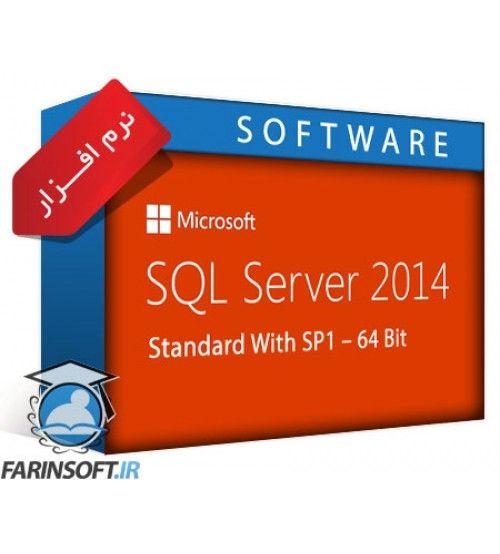 نرم افزار Microsoft SQL Server 2014 Standard With SP1 – 64 Bit