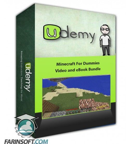 آموزش Udemy Minecraft For Dummies Video and eBook Bundle