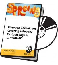 دانلود آموزش Lynda Mograph Techniques Creating a Bouncy Cartoon Logo in CINEMA 4D
