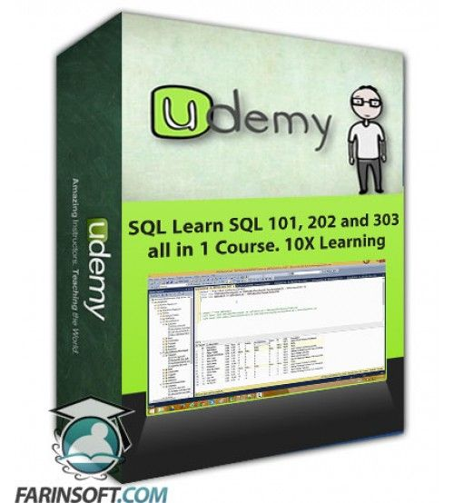 آموزش Udemy SQL Learn SQL 101, 202 and 303 all in 1 Course. 10X Learning