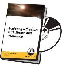دانلود آموزش Lynda Sculpting a Creature with Zbrush and Photoshop