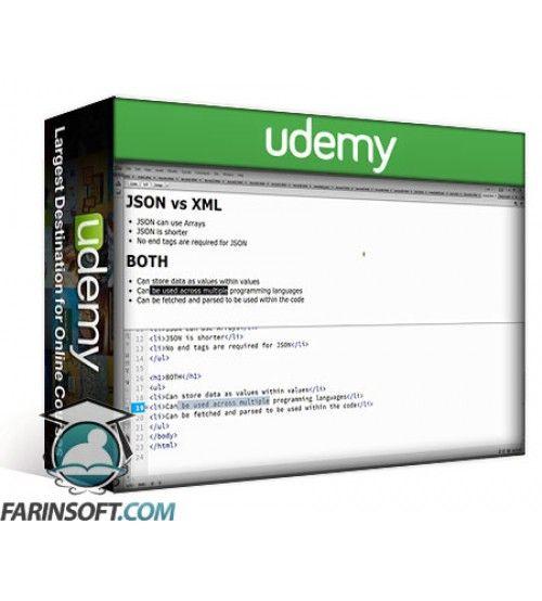 آموزش Udemy Introduction to JSON JavaScript Object Notation Tutorial