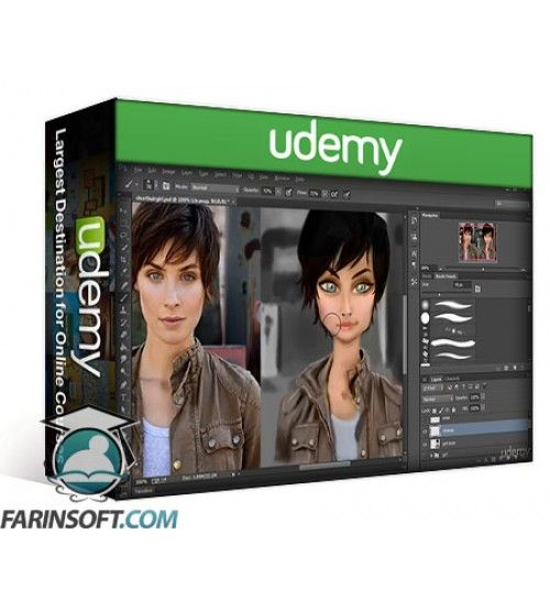 آموزش Udemy Digital Painting for Cartoon Characters